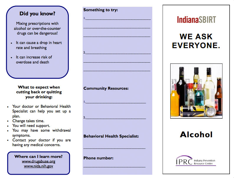 SBIRT Brochure: Alcohol
