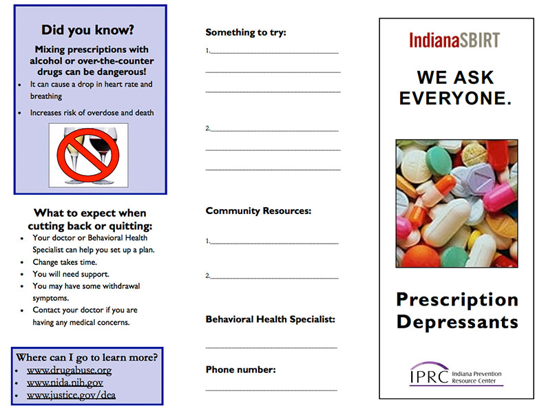 SBIRT Brochure: Prescription Depressants