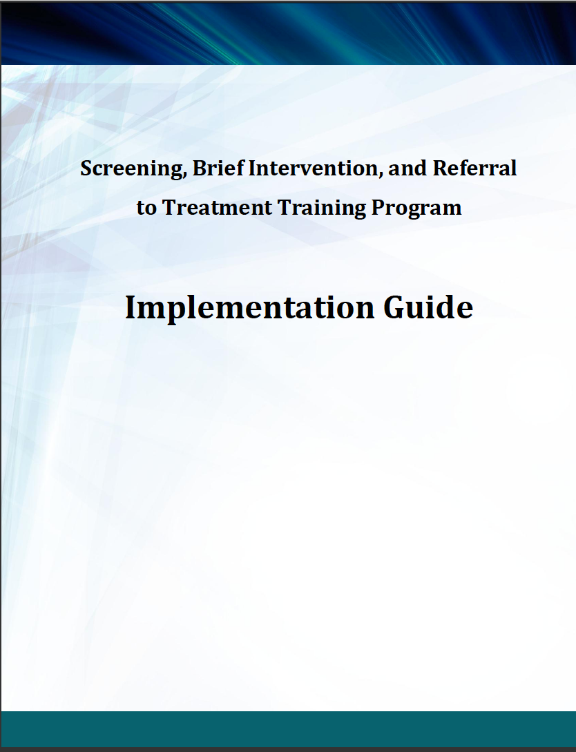 SAMHSA SBIRT Training Development Guide Cover
