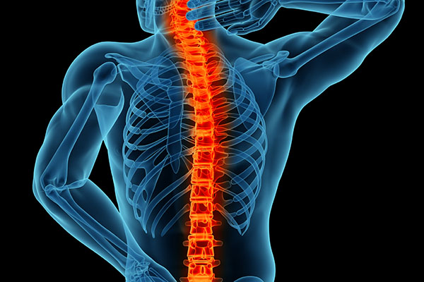 chronic back pain spine highlighted